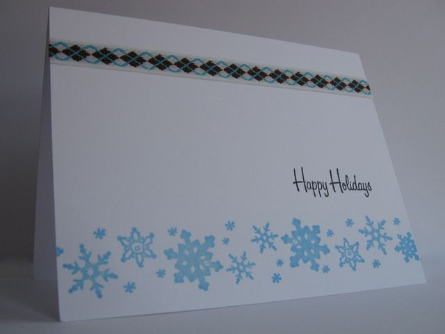 One Layer Snowflakes with Argyle