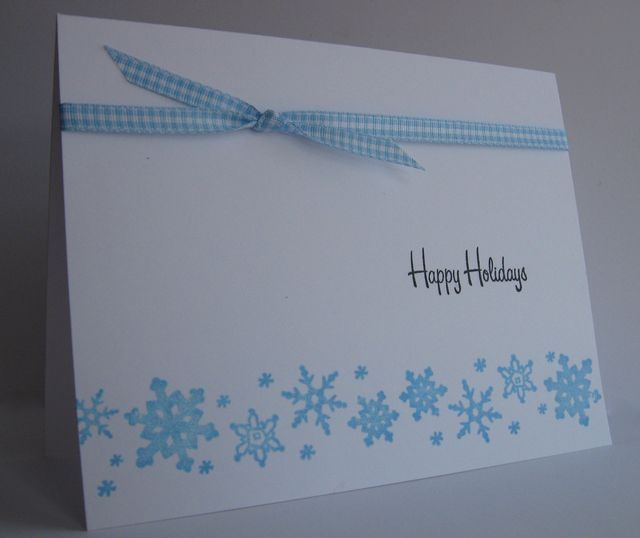 One Layer Snowflakes with Gingham
