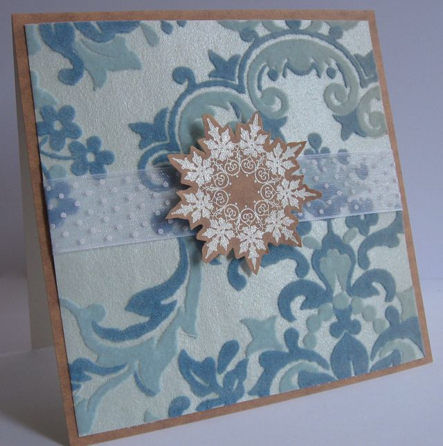 Vintage Snowflake and Wallpaper